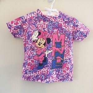 Vintage Minnie Mouse Pink Purple Tee 3T